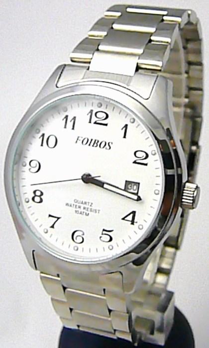 Pánské vodotěsné ocelové kovové čitelné hodinky Foibos 2229.1 - 10ATM