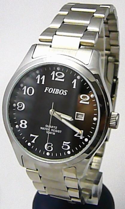 Pánské vodotěsné ocelové kovové čitelné hodinky Foibos 2229.2 - 10ATM