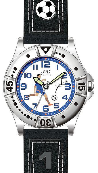 Chlapecké sportovní fotbalové dětské hodinky JVD J7072.1 pro fotbalistky 5ATM