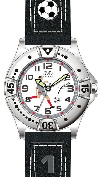 Chlapecké sportovní fotbalové dětské hodinky JVD J7072.2 pro fotbalistky 5ATM