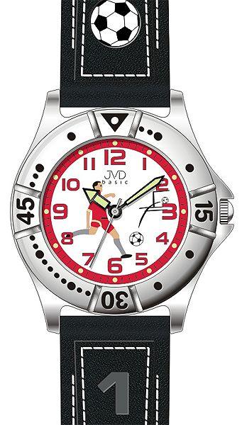 Chlapecké sportovní fotbalové dětské hodinky JVD J7072.3 pro fotbalistky 5ATM
