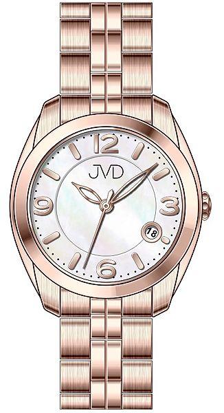 Voděodolné pánské ocelové hodinky JVD W76.3 s kalendářem - 5ATM