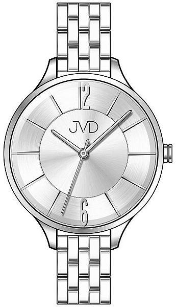 Voděodolné dámské ocelové hodinky JVD W77.1 s velkým číselníkem