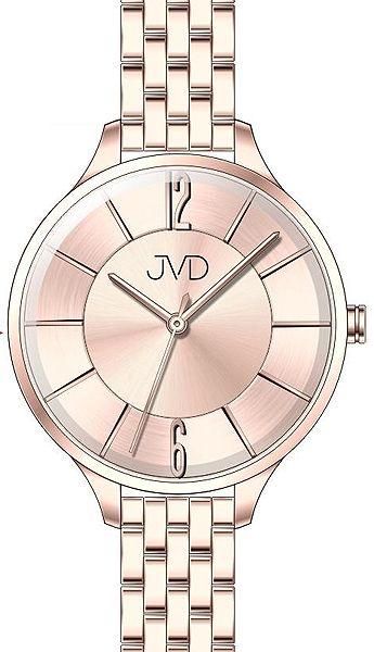Voděodolné dámské ocelové hodinky JVD W77.3 s velkým číselníkem