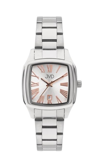 Hranaté ocelové unisex hodinky JVD W78.1 pro pány i dámy s datumovkou (POŠTOVNÉ ZDARMA!!!)