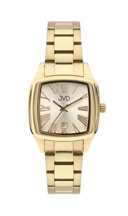 Hranaté ocelové unisex hodinky JVD W78.2 pro pány i dámy s datumovkou (POŠTOVNÉ ZDARMA!!!)
