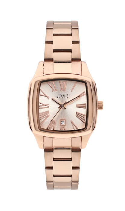 Hranaté ocelové unisex hodinky JVD W78.3 pro pány i dámy s datumovkou (POŠTOVNÉ ZDARMA!!!)