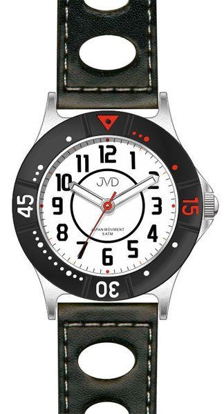 Dětské chlapecké sportovní červené voděodolné hodinky JVD J7087.3 - 5ATM