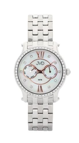 Dámské luxusní hodinky JVD W80.1 - chronografy s perleťovým číselníkem ( )