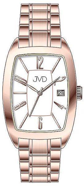 Dámské ocelové módní růžové hodinky JVD W79.3