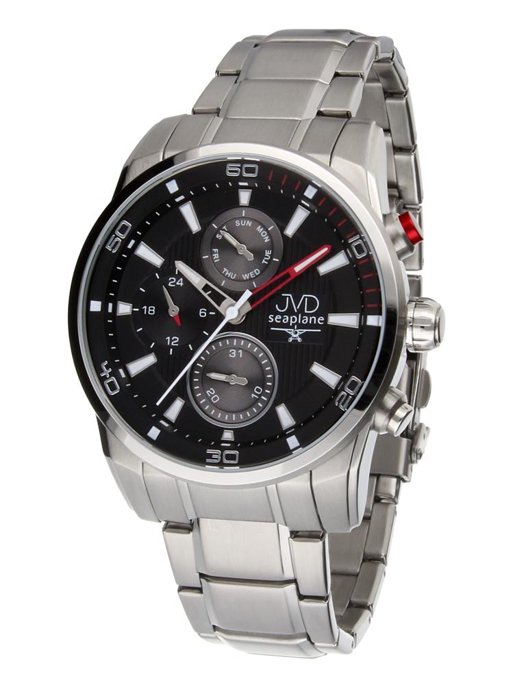 Pánské luxusní vodotěsné chronografy hodinky JVD seaplane W82.1 - 10ATM f47ac65564c