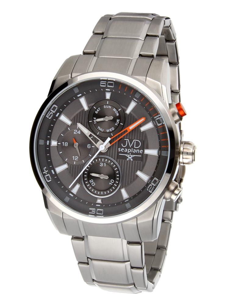 Pánské luxusní vodotěsné chronografy hodinky JVD seaplane W82.2 - 10ATM