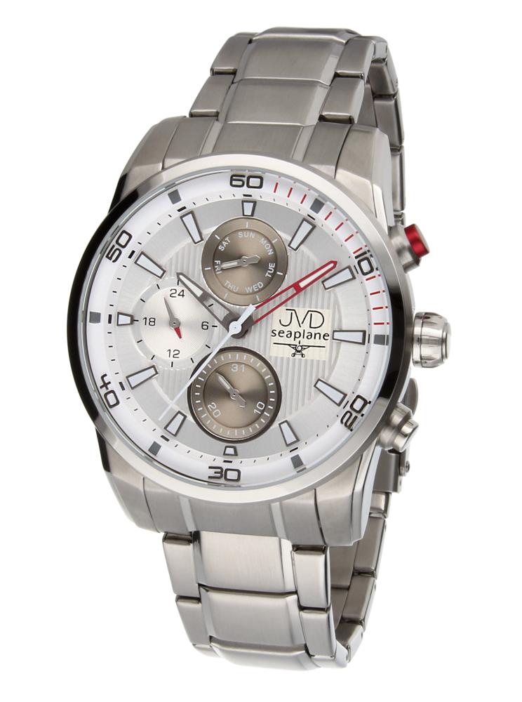Pánské luxusní vodotěsné chronografy hodinky JVD seaplane W82.3 - 10ATM