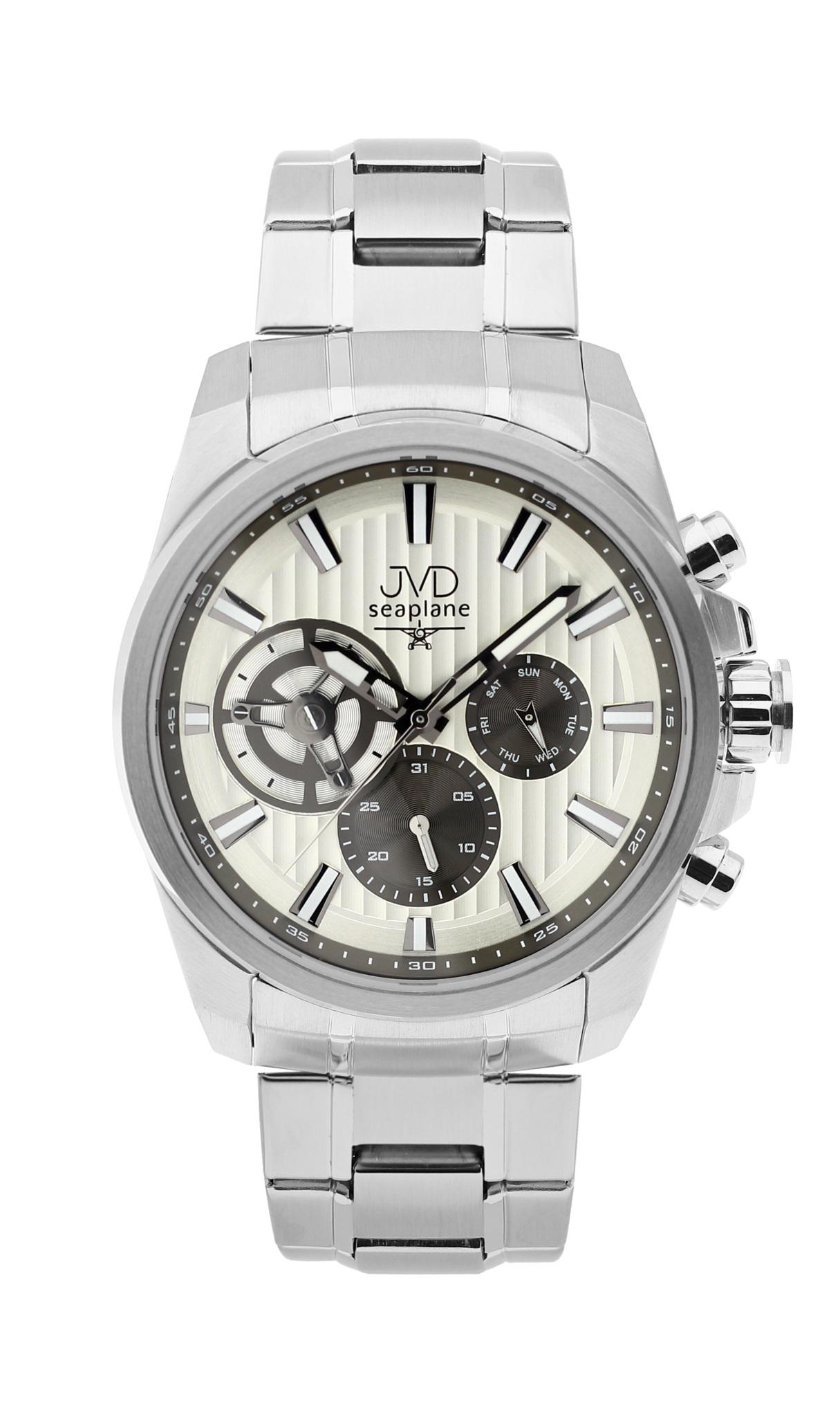 Pánské luxusní vodotěsné chronografy hodinky JVD seaplane W83.1 - 10ATM stopky