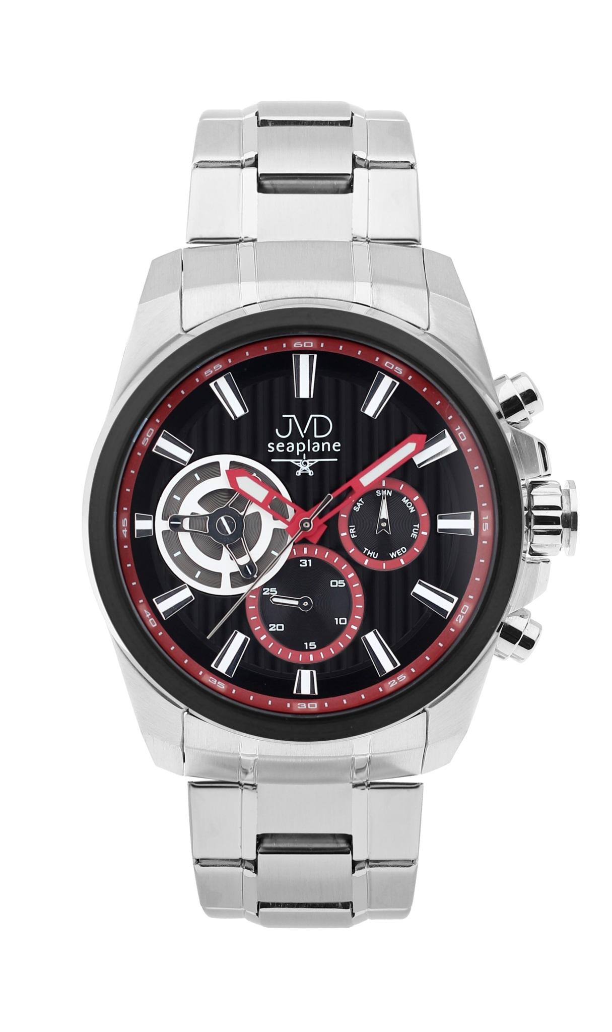 Pánské luxusní vodotěsné chronografy hodinky JVD seaplane W83.3 - 10ATM stopky