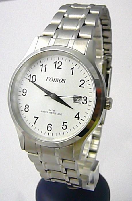 Pánské voděodolné ocelové kovové čitelné hodinky Foibos 3882.1 - 5ATM