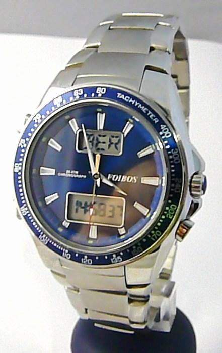 Mohutné pánské vodotěsné hodinky Foibos 10010.2 20ATM digitální chronograf