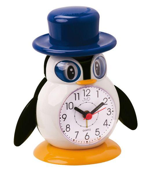 Dětský budík JVD SR52. 5 - tučňák s kloboukem