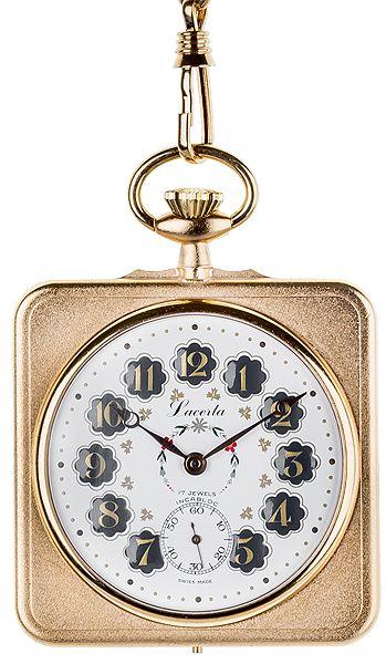 Luxusní mechanické švýcarské kapesní hodinky Lacerta L4007