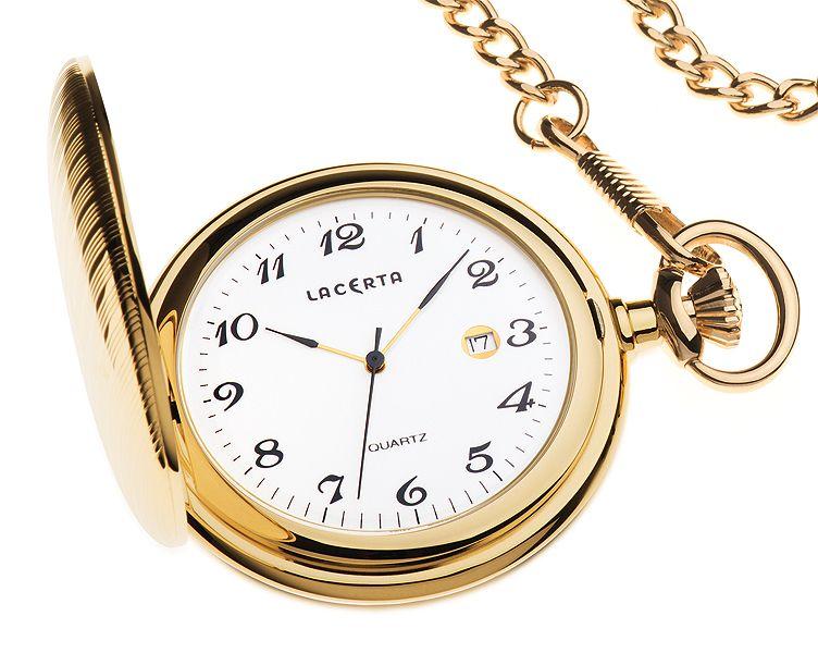 Luxusní švýcarské pánské kapesní hodinky Lacerta LK6