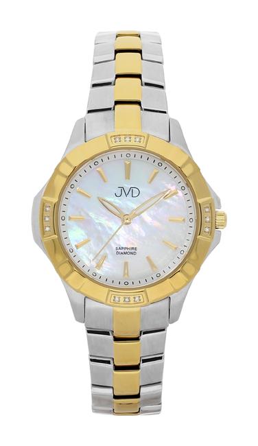 Náramkové hodinky JVD steel J4073.2 s pravými diamanty a safírovým sklem
