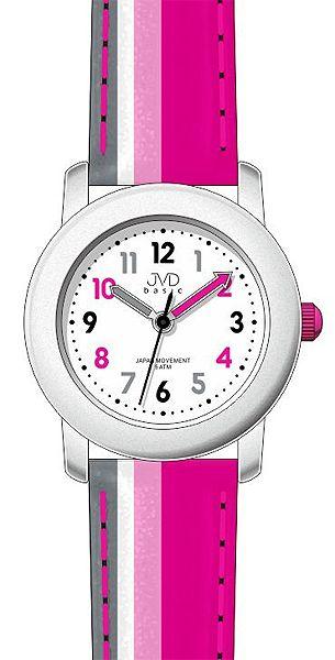 Růžové dětské dívčí hodinky JVD basic J7116.3 - 5ATM