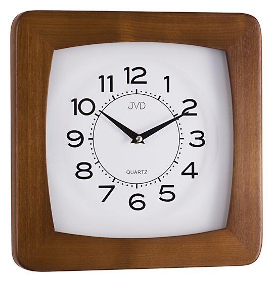 Dřevěné čitelné přehledné nástěnné hodiny JVD N29041/11