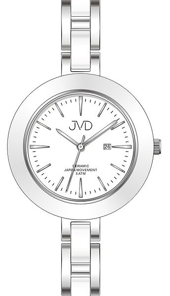 Dámské keramické čitelné módní hodinky JVD J4134.1 - 5ATM