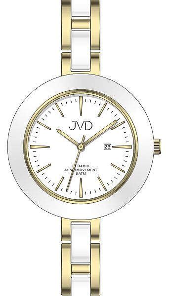 Dámské keramické čitelné módní hodinky JVD J4134.2 - 5ATM