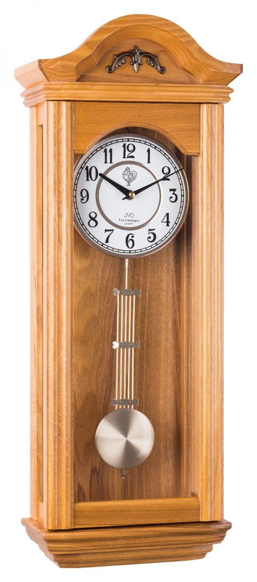 Kyvadlové skříňové dřevěné hodiny pendlovky JVD N9360.1 s melodií