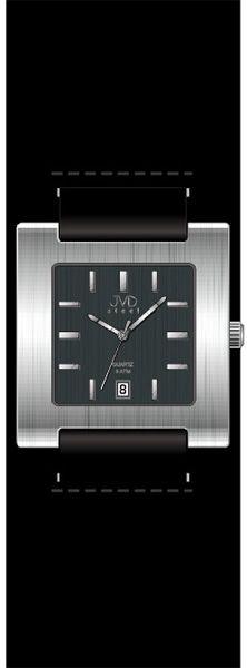 Dámské černé hranaté moderní hodinky JVD steel J4016.3
