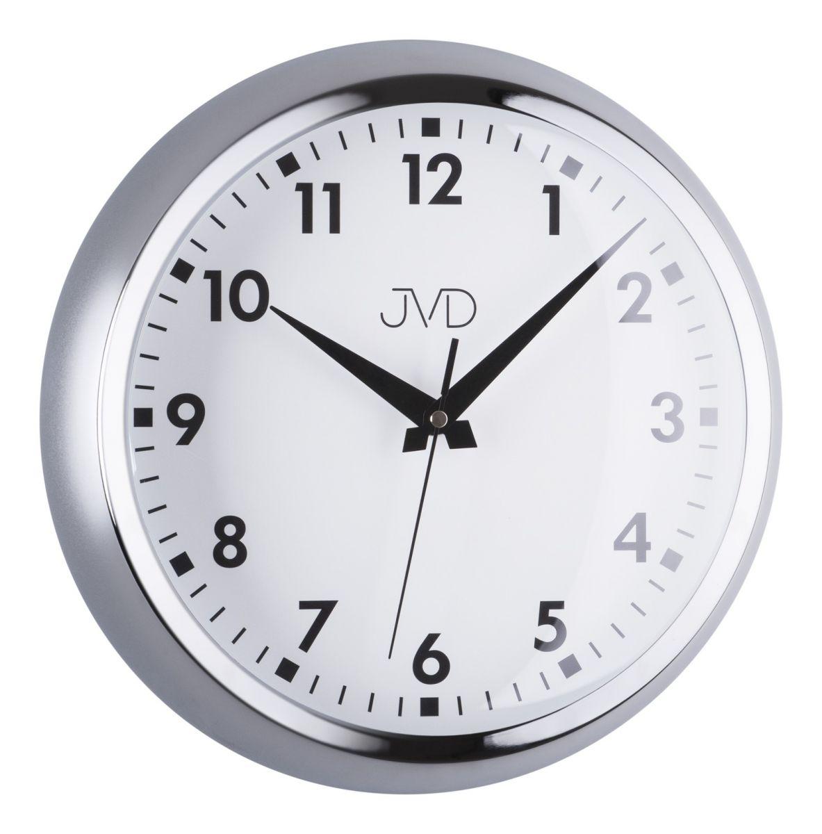 Designové chromové kovové hodiny JVD HT077