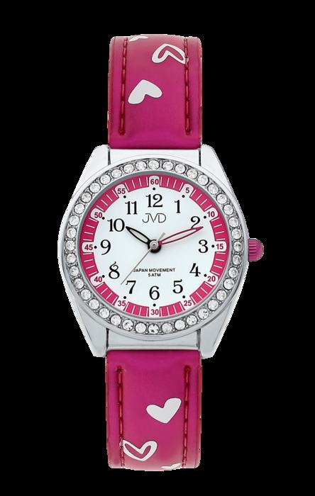 Dětské dívčí hodinky JVD basic J7117.5 se zirkony a srdíčky (POŠTOVNÉ ZDARMA!!!)