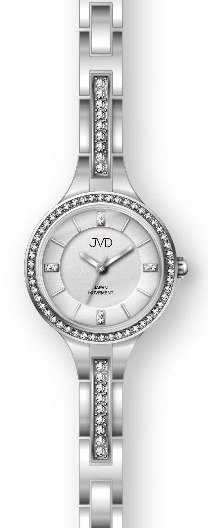 Šperkové stříbrné dámské ocelové hodinky JC045.1 s elegantními kamínky