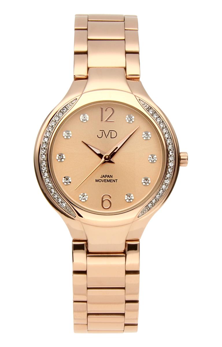 Šperkové perleťové nerezové dámské hodinky JVD JC068.3 - 5ATM s krystalky de543a016a0