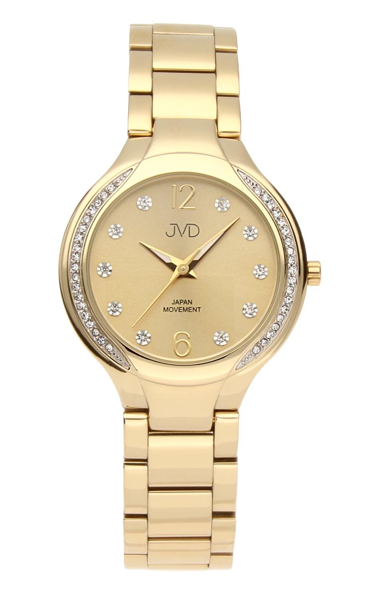 Šperkové perleťové nerezové dámské hodinky JVD JC068.2 - 5ATM s krystalky