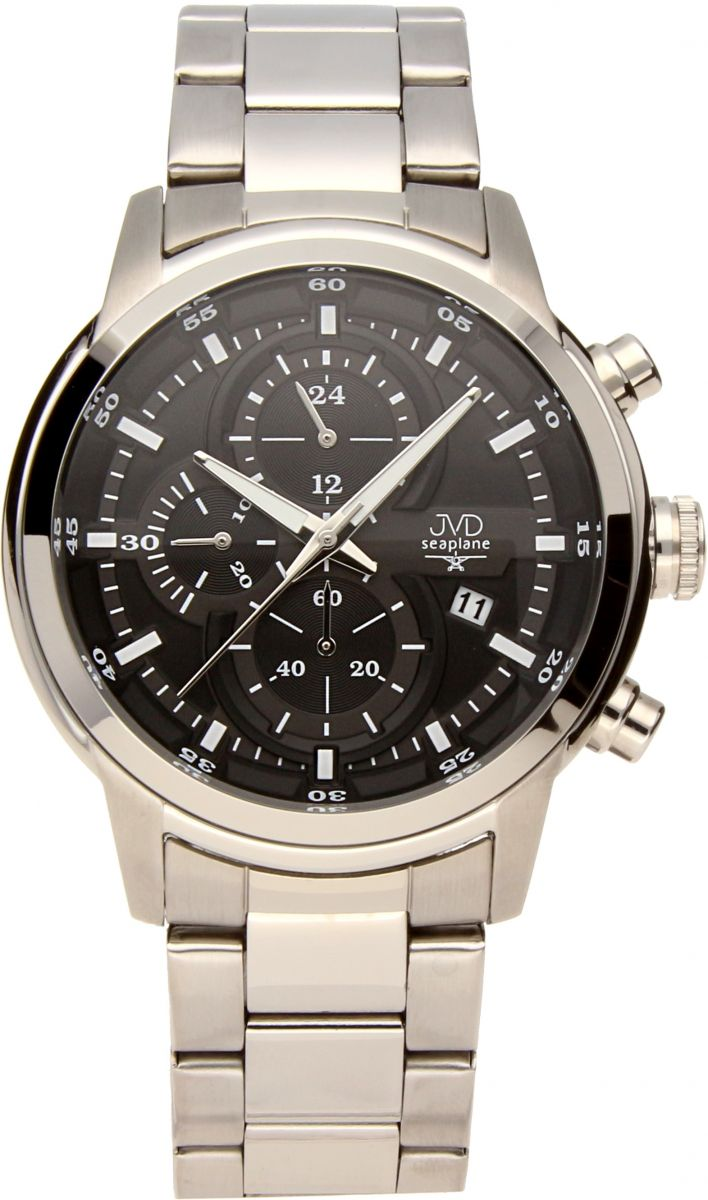 Vysoce odolné vodotěsné chronografy hodinky JVD seaplane JC667.1 10ATM