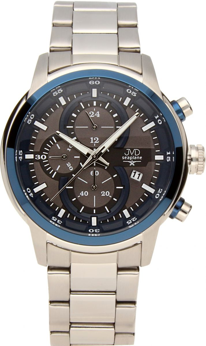 Vysoce odolné vodotěsné chronografy hodinky JVD seaplane JC667.2 10ATM