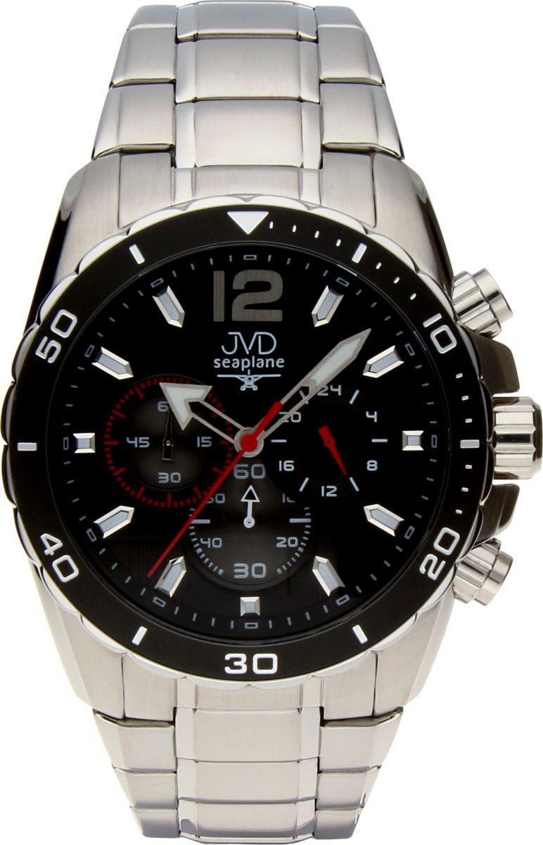 Luxusní vodotěsné sportovní hodinky JVD W90.1 Seaplane s chronografem
