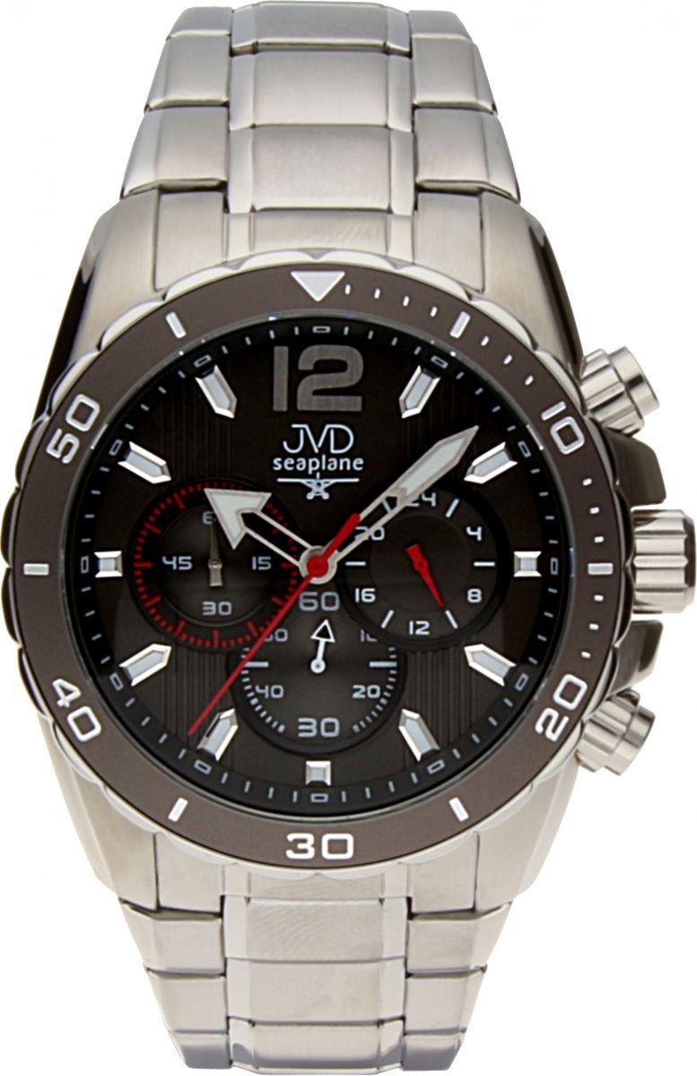 Luxusní vodotěsné sportovní hodinky JVD W90.2 Seaplane s chronografem