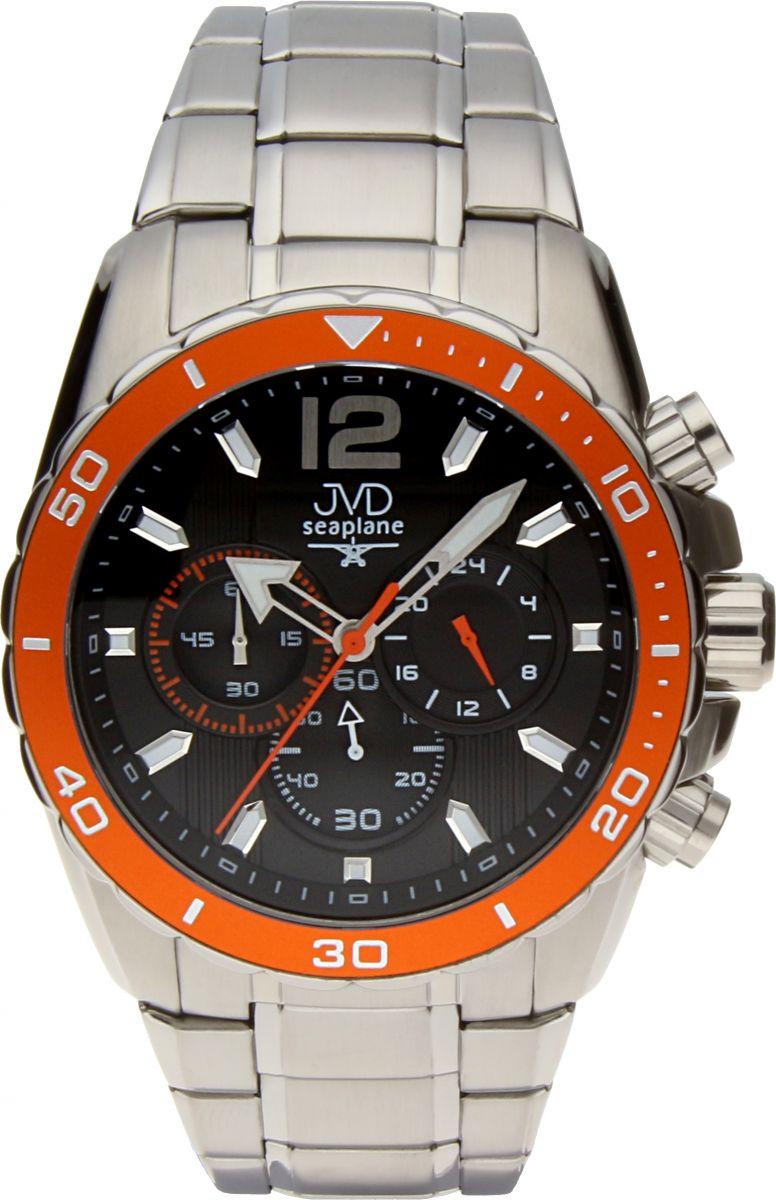 Luxusní vodotěsné sportovní hodinky JVD W90.3 Seaplane s chronografem