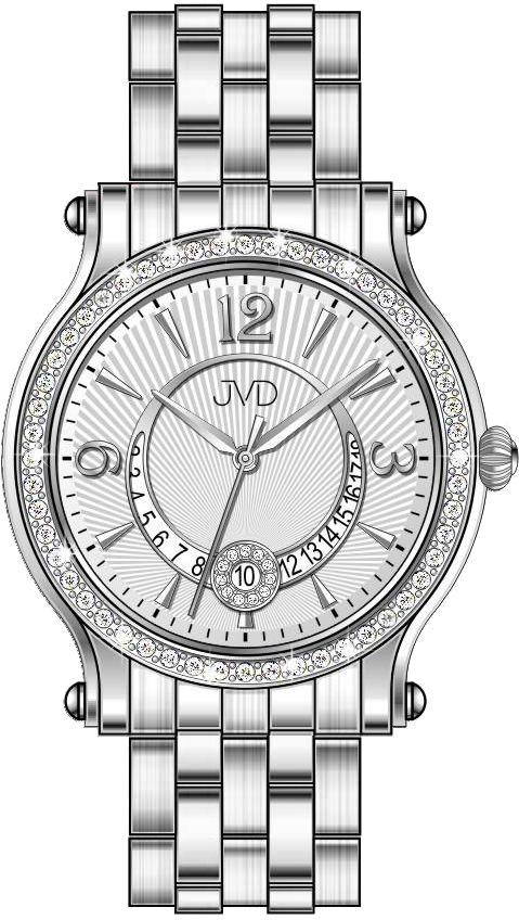 Dámské voděodolné šperkové elegantní luxusní hodinky JVD W87.1 s kamínky