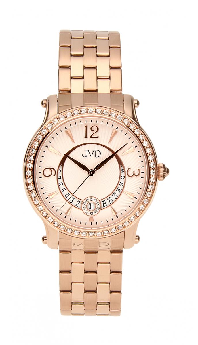 Dámské voděodolné šperkové elegantní luxusní hodinky JVD W87.3 s kamínky