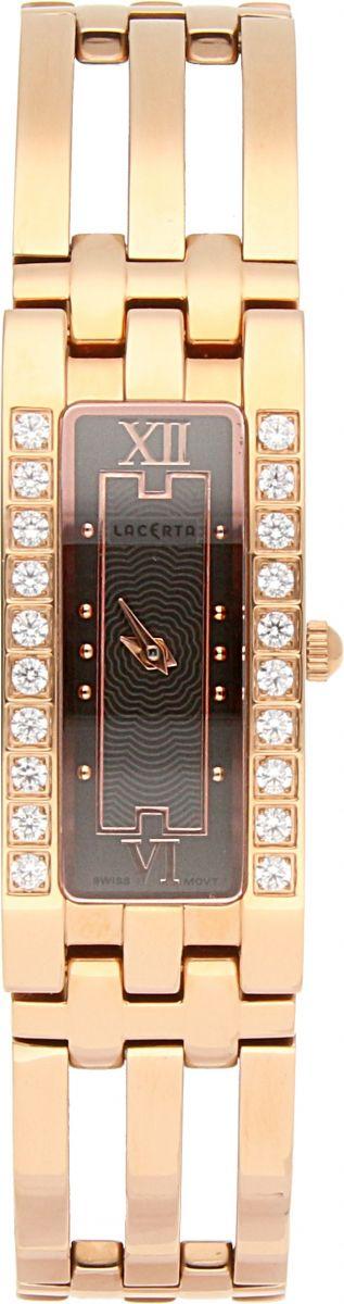 Dámské švýcarské šperkové hodinky Lacerta 751 D3 563 se safírovým sklem
