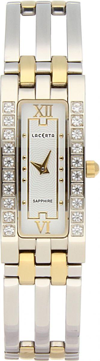 Dámské švýcarské šperkové hodinky Lacerta 751 E9 566 se safírovým sklem