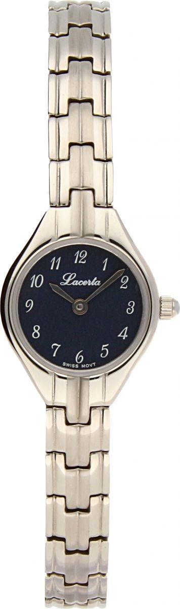 Dámské šperkové švýcarské hodinky Lacerta 762 010 S4 s arabskými číslicemi