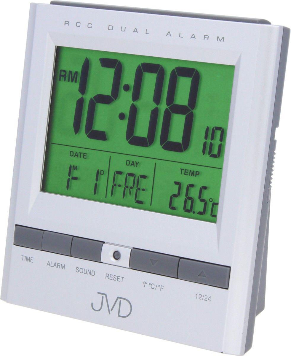 Rádiem řízený digitální budík JVD RB92.1 s měřením vnitřní teploty