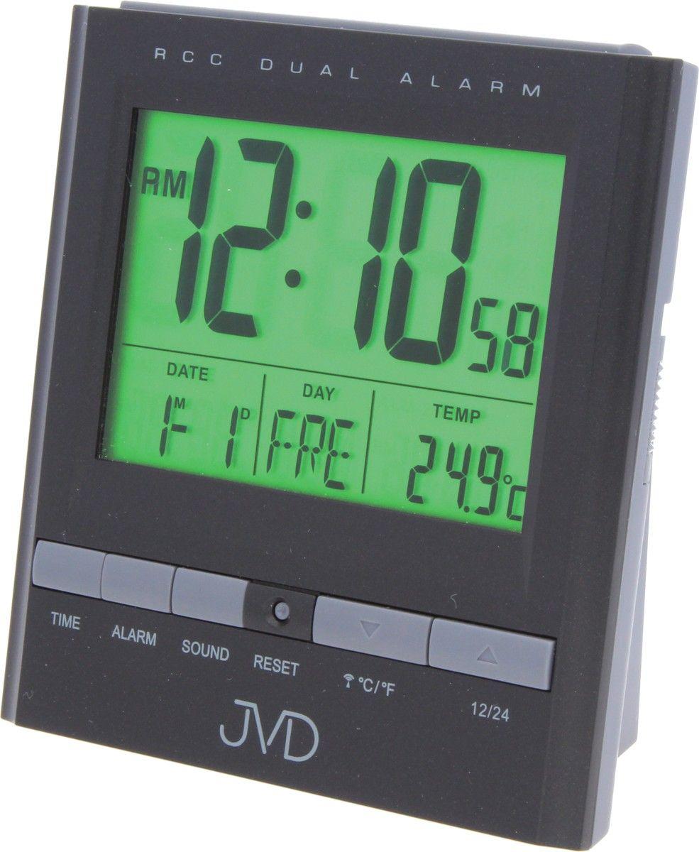 Rádiem řízený digitální budík JVD RB92.2 s měřením vnitřní teploty