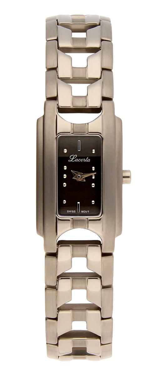 Dámské titanové švýcarské luxusní hodinky Lacerta 751 A8 547 se safírovým sklem