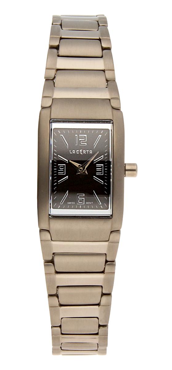 Dámské luxusní švýcarské ocelové hodinky Lacerta 751 C6 550 se safírovým sklem